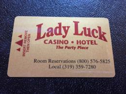 Hotelkarte Room Key Keycard Clef De Hotel Tarjeta Hotel  LADY LUCK  IOWA - Telefonkarten
