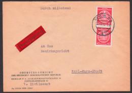 BERLIN N4 Oberstes Gericht Der DDR Eilbotenbrief 40 Pf.(2) Nach Karl-Marx-Stadt - [6] Democratic Republic