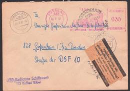 ROSSLAU (Elbe), DDR ZKD-AFS. Pergamin-Klebezettel ZKD-Kontrolle ZKD 7 In Braun, Schiffswerft, SSt. Grossenhain Stadtfest - Service
