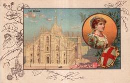 CHICOREE A LA MENAGERE PAPIER GRAINS DE CAFE  LE DÔME MILAN - Werbepostkarten
