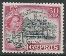Cyprus. 1960-61 Republic Overprint. 30m Used. SG 195 - Unused Stamps