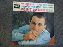 Vinyle 45 Tours 4 Titres AUTOGRAPHE CHARLES AZNAVOUR Alleluia Barclay 70435 M - Collector's Editions