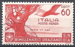 Italia, 1936 Orazio, Posta Aerea, 60c Carminio # Sassone A97 - Michel 557 - Scott C86 USATO - 1900-44 Vittorio Emanuele III