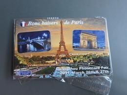 Sepatel Prepaid Calling Card, Eiffel Tower And Seine River,Arc De Triomphe,Guangzhou Phonecard Fair,mint In Blister - Frankreich