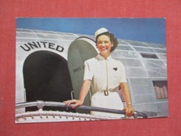 United Air Lines Mainliner Charming Stewardess Ref 3669 - Aviation