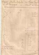 1918 PLAN AMANAGEMENT POSTE DE CASALONGA / 2EME REGIMENT  TIRAILLEURS MALGACHES   9EME CIE  MANANTENINA MADAGASCAR   E27 - Documents