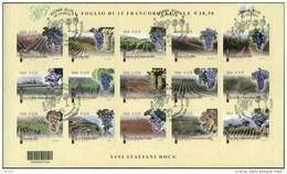 2013 Italia, Foglietto Vini Con Annullo Ufficiale - 1946-.. République