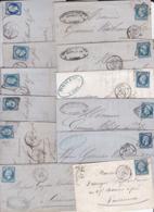 43 LAC Et LSC (collection De Bleus) 12 N°14 + 2N°12 + 10N°29 + 11N°60 + 8N°90 - Marcophilie (Lettres)