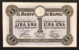 Banco Di Napoli Fede Di Credito 1 Lira 01 10 1870 Sup Lotto.1942 - [ 1] …-1946 : Regno