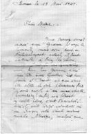 Lettre écrite à BOUSSE ( Moselle) Le 19 Mai 1940 - Bombardements, Région De THIONVILLE évacuée - Vieux Papiers