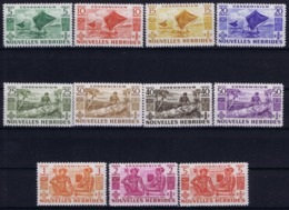 Nouvelles-Hébrides Yv 144 - 154   Postfrisch/neuf Sans Charniere /MNH/** 1953 - Leyenda Francesa