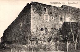FR66 FOURQUES - Brun - Château Féodal - Attelage - Animée - Belle - Autres Communes