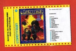 """Videogioco """"LOAD'N'RUN"""" Per Spectrum Vintage Cassetta + Opuscolo N.54-16 Giochi, Vedi Foto.. - Other"""