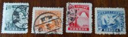 &7& MANCHUKUO MICHEL 58/61, YVERT 57/60 USED. - 1932-45 Manchuria (Manchukuo)