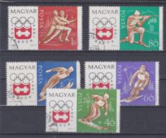 Hungary 1964 Innsbruck Olympic Games 5 Stamps Used (H58) - Winter 1964: Innsbruck