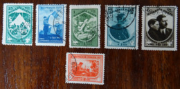 &15& RUMANIA YVERT 440/445, MICHEL 437/442 FINE USED. SCOUTS. - 1918-1948 Ferdinand I., Charles II & Michel