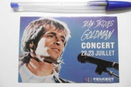 Autocollant Stickers - Artiste Chanteur Jean-Jacques GOLDMAN Avec PEUGEOT MENARD FRERES - Autocollants