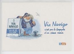 """Nob - Bruno Chevrier """"Via Navigo N'est Pas La Biographie D'un Vieux Marin"""" éd Du Bulot - Ile De France - Werbepostkarten"""