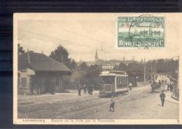 Luxembourg Luxemburg - Entree De La Ville Par La Passerele - Tram - 1921 - Cartoline