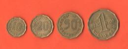 Uruguay 10 20 50 Centimos + 1 Nuevo Peso - Uruguay
