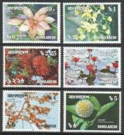 Bangladesh. 1976 Flowers. MH Complete Set. SG110-115 - Bangladesh