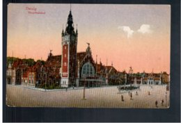 POLAND Gdansk Danzig Hauptbahnhof 1920 Old Postcard - Polen