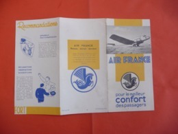 1956 - AIR FRANCE Réseau Aérien Mondial. - Tourism Brochures