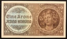 BOHEMIA & MORAVIA 1 KORUNA Pick#3 1940 PROTEKTORAT Sup/unc Lotto.1958 - Czechoslovakia