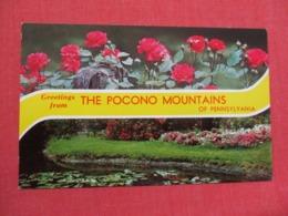 Greetings  Pocono Mountains Pennsylvania    Ref 3670 - United States
