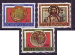VATICANO 1975 - 9º CONGRESO DE ARQUEOLOGIA CRISTIANA - Yvert Nº 600/602** - Archaeology