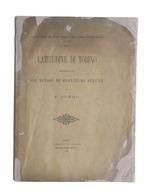 Latitudine Di Torino Determinata Coi Metodi Di G. Struve Da F. Porro - 1893 - Libros, Revistas, Cómics