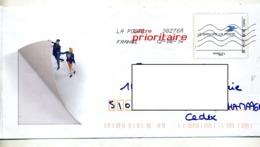 Pap Embleme Poste Flamme Chiffree - Postwaardestukken