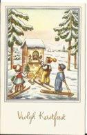 JOYEUX NOEL WEIHNACHTEN CHRISTMAS ILLUSTRATEUR COTPSG   KINDER ENFANT  SAPIN NEIGE SKIEUR - Santa Claus