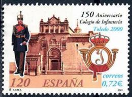 España. Spain. 2001. 150 Aniversario Del Colegio De Infanteria. Toledo - 2001-10 Nuevos & Fijasellos
