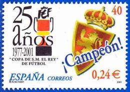 España. Spain. 2001. Copa De SM El Rey De Futbol. Real Zaragoza, Campeon - 2001-10 Nuevos & Fijasellos