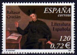 España. Spain. 2001. Literatura Española. Baltasar Gracian - 2001-10 Nuevos & Fijasellos