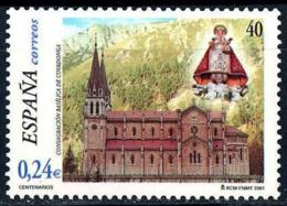 España. Spain. 2001. Basilica De Covadonga. Asturias - 2001-10 Nuevos & Fijasellos