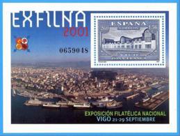 España. Spain. 2001. HB. EXFILNA '01. Vigo - 2001-10 Nuevos & Fijasellos