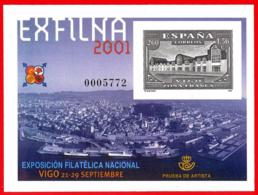 España. Spain. 2001. PO. EXFILNA '01. Vigo - Exposiciones Filatélicas