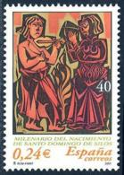España. Spain. 2001. Milenario Del Nacimiento De Santo Domingo De Silos - 2001-10 Nuevos & Fijasellos