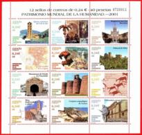 España. Spain. 2001. MP. Patrimonio Mundial De La Humanidad - 2001-10 Nuevos & Fijasellos