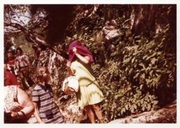 Amusante Photo Couleur B.B. Originale - L'excursion Incognito Pour Femme Au Gilet Rose Fushia Un Peu Voyant 1960/70 - Personnes Anonymes