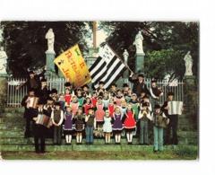 44 Jans Cercle Celtique La Pastourelle Groupe D' Enfants Folklore Costume Enfant Accordeon Musicien Etendard Breton - France