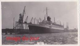 PHOTO ANCIENNE  LE PAQUEBOT CHAMPLAN  AU HAVRE EN 1933 ( Bateau , Boat ) - Bateaux