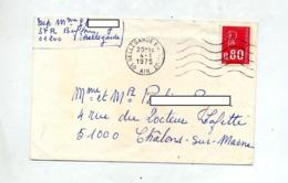 Lettre Flamme Muette Bellegarde Entrepot Sur Bequet - Marcophilie (Lettres)