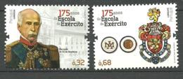 Portugal  2012 175 Years Military Academy, Sa Da Bandeira, Coat Of Arms Mi 3696-3697, MNH(**) - Neufs