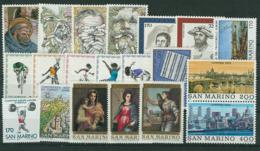 San Marino 1980 Annata Completa/Complete Year MNH/** - San Marino