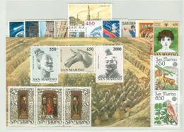 San Marino 1986 Annata Completa/Complete Year MNH/** - San Marino