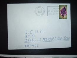 LETTRE Pour La FRANCE TP FLEUR AMORPHOPHALLUS ABYSSINICUS 90F OBL.MEC.30-11 1987 LOME RP - Togo (1960-...)