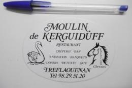 """Autocollant Stickers - Restaurant Crêperie """"MOULIN De KERGUIDUFF"""" à TREFLAOUENAN 29 FINISTÈRE BRETAGNE - Autocollants"""